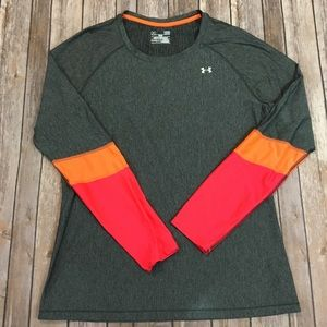 Under Armor fitted heat gear sports top